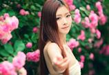 清纯美女蔷薇花恋