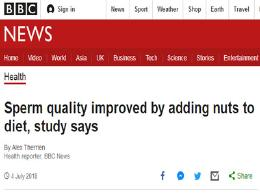 男性福音!每天吃坚果可改善精子质量